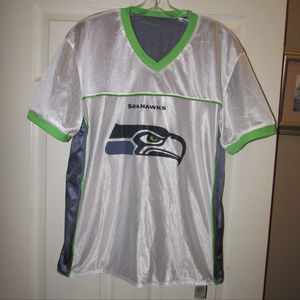 new product 2a33c f3e39 Settle Seahawks Reversible Football Jersey L Flag